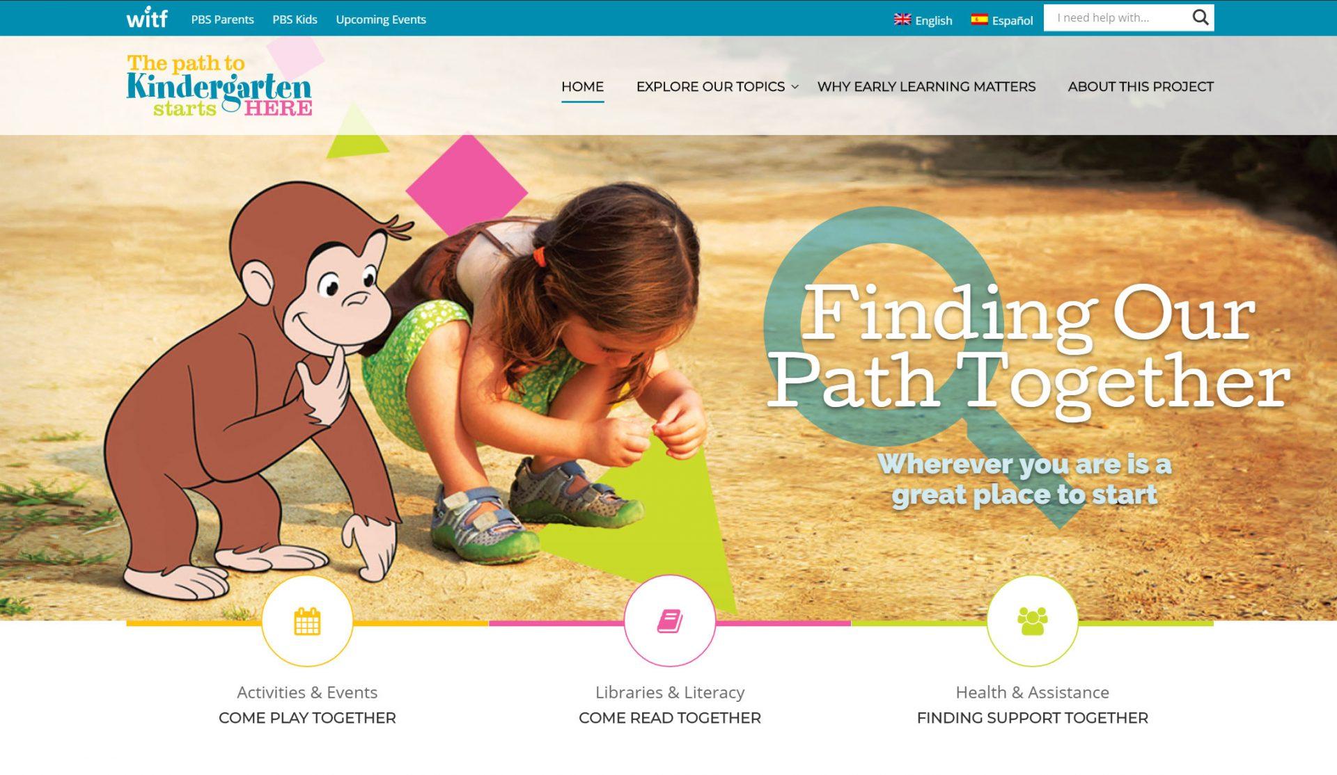 The Path to Kindergarten Starts Here website