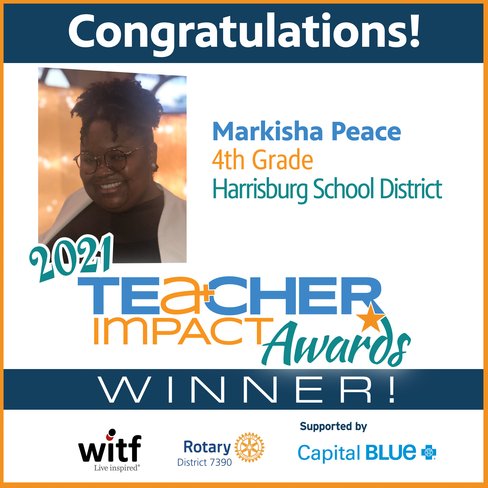 TIA 2021 Winner Markisha Peace