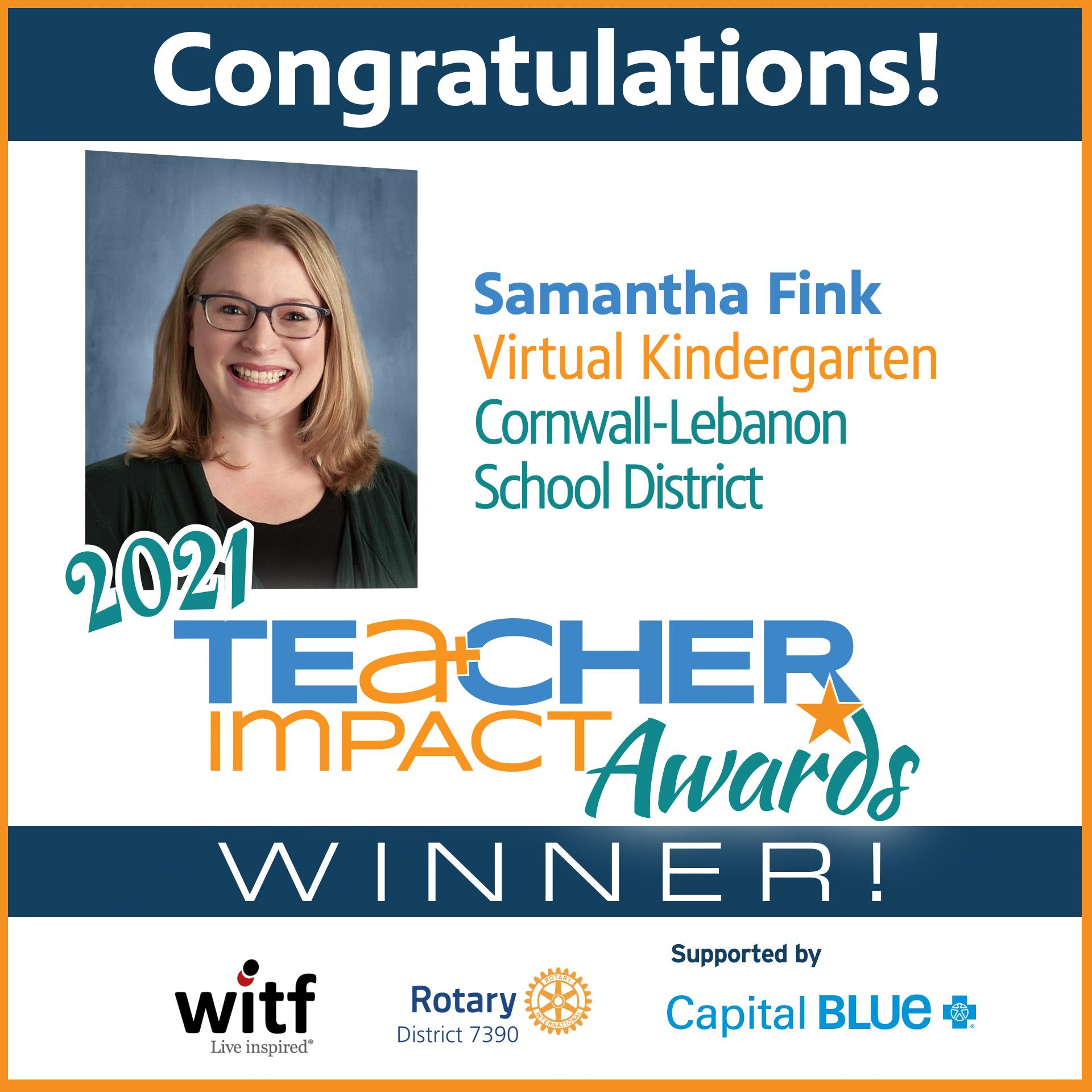 TIA 2021 Winner Samantha Fink