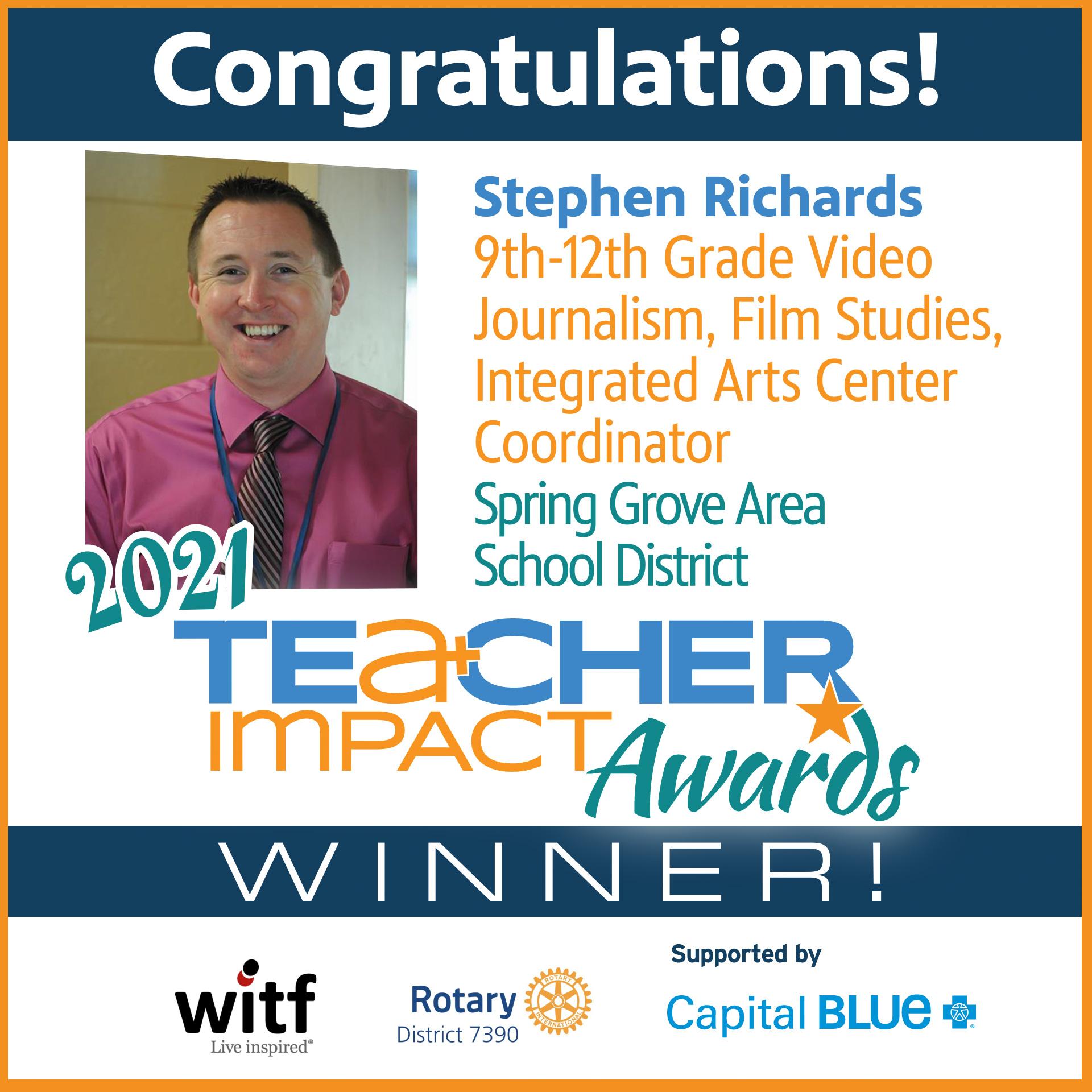TIA 2021 Winner Stephen Richards