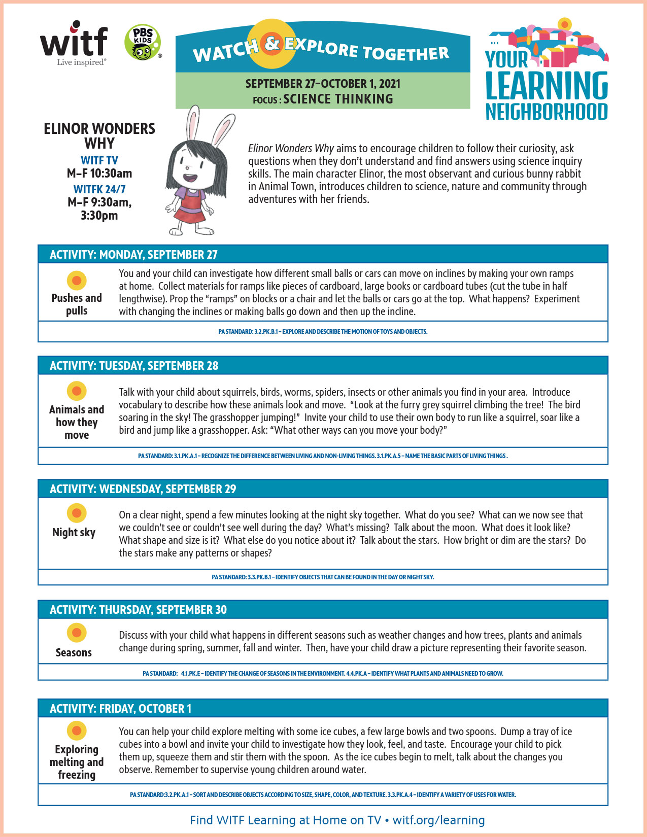 WITF learning activity ELINOR 092721thru100121